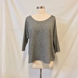TOPSHOP Gray Lightweight Knit Top Size 10